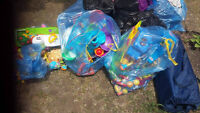 3 recycling bags of toddler/baby toys