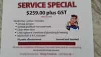 Heating, Ventilation, Air Conditioning, Plumbing, Drain Cleaning
