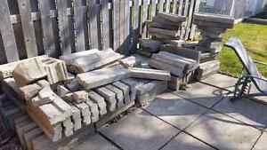 Concrete slabs, blocks. Ideal for garden beds or retaining wall