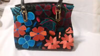 Stunning Leather Purse  , craft embroidery