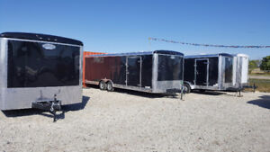 Last Remaining 8.5 x 24 Enclosed Car Hauler, come and get it!
