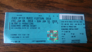 Two hardcopy EVER AFTER MUSIC FESTIVAL TICKETS