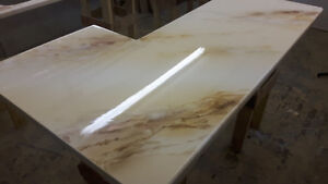 creation de comptoir epoxy faux fini granite marbre quartz