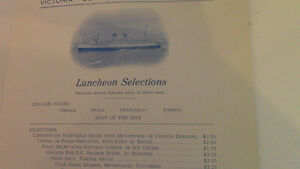 Canadian Pacific Princess Steamers Luncheon Menu Kitchener / Waterloo Kitchener Area image 5