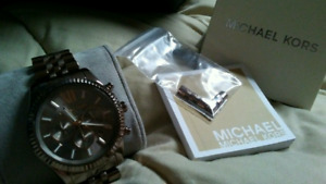 Mens Michael Kors Chocolate Gold Watch