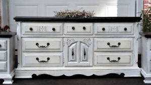 GORGEOUS WOOD DRESSER, SHABBY CHIC