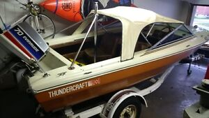 15 ft Thundercraft with 70 hp evinrude