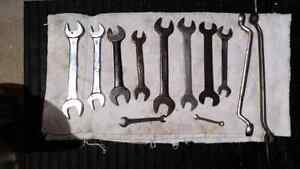 Lot of Open Ended Wrenches Tools Outils Clé