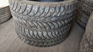 Pair of 2 Goodyear UltraGrip Ice WRT 245/60R18 WINTER tires (75%