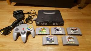 Original Nintendo 64 With 5 games