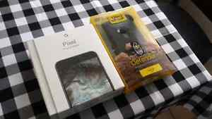 New black Google Pixel XL 5.5 with new otterbox