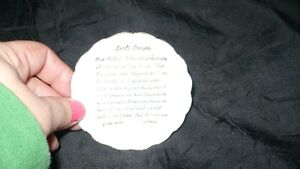"VINTAGE ADORABLE MINIATURE ""LORD'S PRAYER"" TEA CUP & SAUCER Kitchener / Waterloo Kitchener Area image 4"