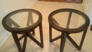 Leons two Coffee side tables