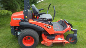 Kubota zero turn diesel mower.