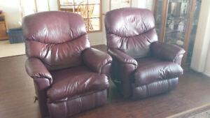 REDUCED Leather Lazy Boy Recliners+ Lazy Boy Reclining Love Seat