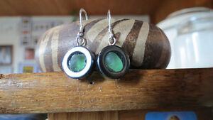 beach glass earrings by Deb Humen
