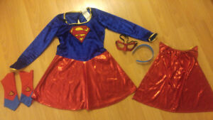 Girls Super Girl Costume - Size Medium (7/8)