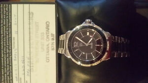 TagHeuer stainless and ceramic Diamond Watch Kingston Kingston Area image 2