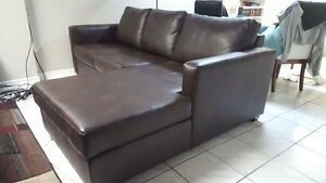 Brand New Leather Sofa with Chaise and Matching Loveseat