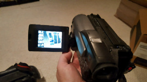 SONY Handycam Recorder with carry bag and batteries and charger.