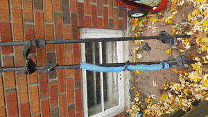 Roof racks 1 fits van with gutter and has kayak stacker 1 other