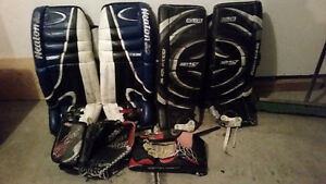 2 sets of pads trapper and blocker good for ball hockey