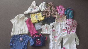 Huge Lot of 12-18 month Baby Girl Clothes