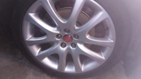 Alloy wheels x4, 19 inch 5 stud winter tyres