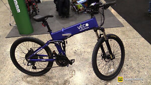 Brand-New Veco Trail (Full-size) Electric Folding Mountain Bike