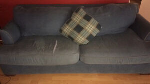 Blue jeans couch