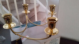 Solid Brass Partylite 4 Candle holder - New with tags