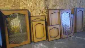 Solid wood cabinet doors with hardware London Ontario image 3