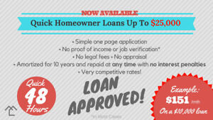 Quick Loans UP to $25,000 - 8.99% Rate