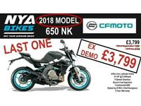 2019 CF Moto 650 NK - 650cc Naked Bike --- 2018 MODEL - EX DEMO