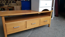 Used, Solid oak coffee table. Delivery available for sale  Newcastle, Tyne and Wear