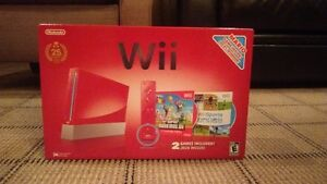 OBO 25th Anniversary Red Wii Great Working Condition + SSBB