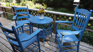 Set of antique 4 piece wicker furniture West Island Greater Montréal image 6