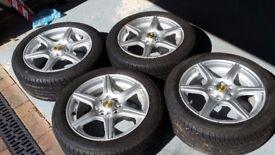 Toyota Corolla Rimstock Fusion Alloy Wheels And Firestone Tz300 Tyres