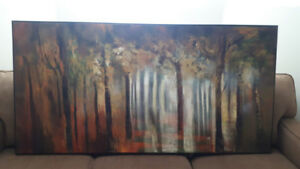 Oversize canvas painting