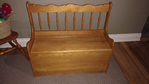 Solid wood Deacons bench