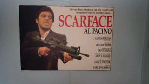 SCARFACE WOODEN POSTER BOARD
