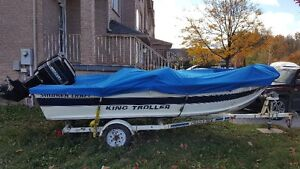 70 HP Mercury outboard Engine/ Smoker Craft King Troller Boat