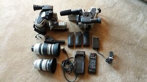 Two Canon L1A Hi 8 Camcorders