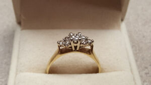 14kt Yellow Gold 0.57ct Engagement Ring 3.26 Grams