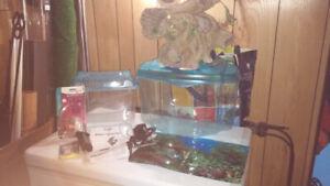 Plante.décorations ,aquariums plastique ext...