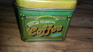 VINTAGE NEW DAWN COFFEE TIN CAN made in NJ