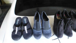 Ladies shoes, sizes from 5.5 to 7, golf shoes, dress shoes, etc