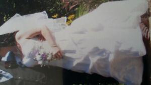 Robe de mariage lacé dos + accessoires