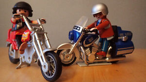 Playmobil people and motorcycles for sale