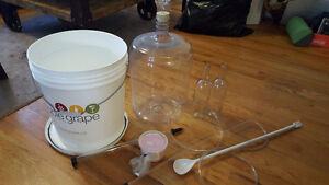 Various home wine making supplies